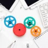 workflow and teamwork concepts with colorful gears and different gadgets