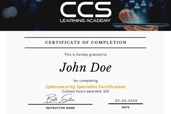 CCSLA Course Completion Certificates (3)